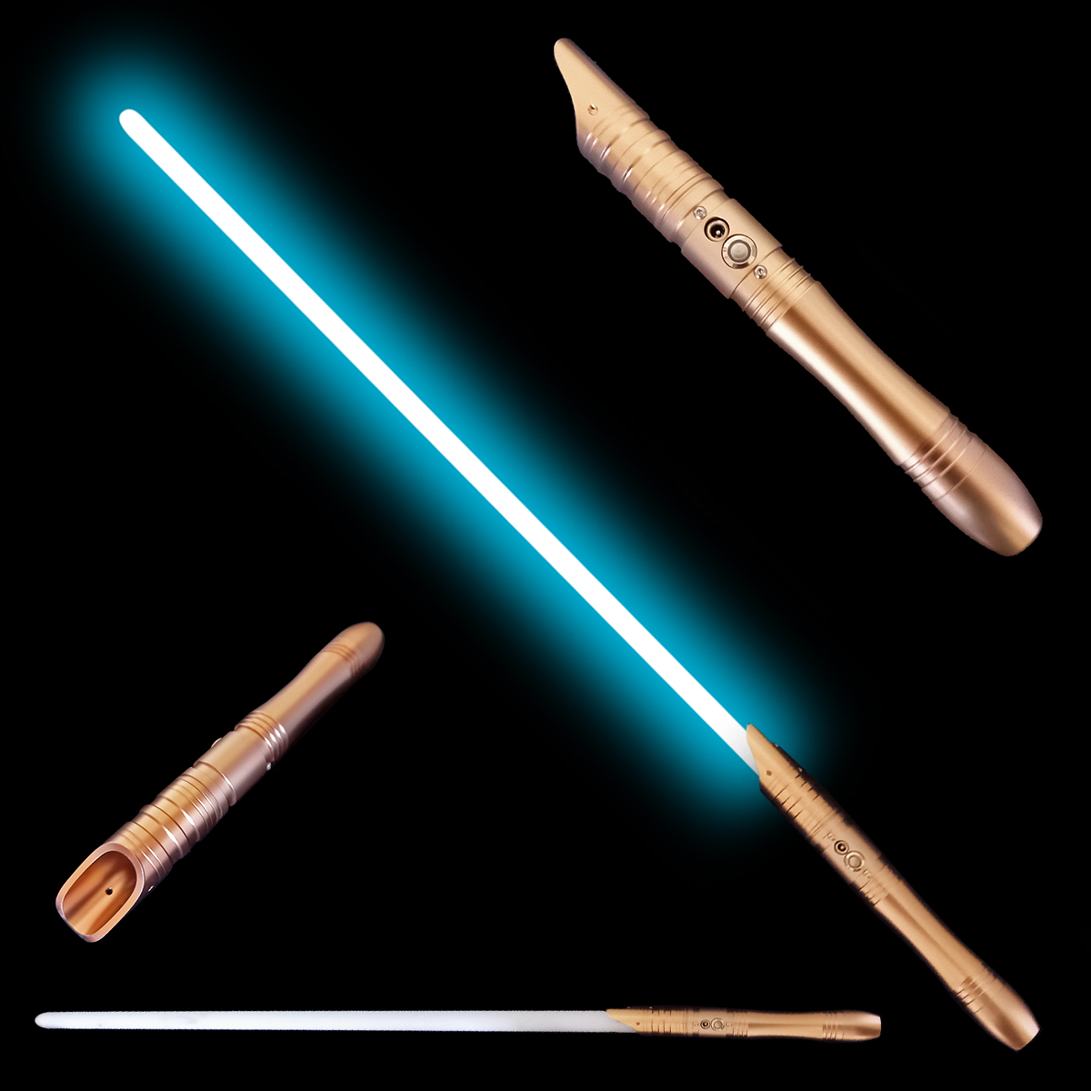 """Svetelný meč """"APPRENTICE OF JEDI ORDER"""" plne kontaktný, Multi-color, gold"""