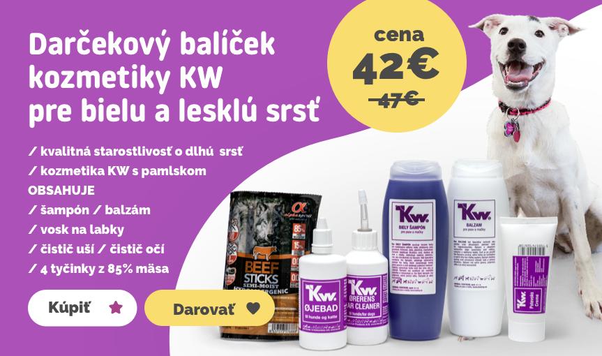 Darčekový balíček kozmetiky KW BOX 2 pre bielu a lesklú srsť