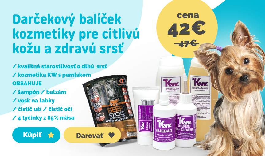 Darčekový balíček kozmetiky KW BOX 3 pre citlivú kožu a zdravú srsť