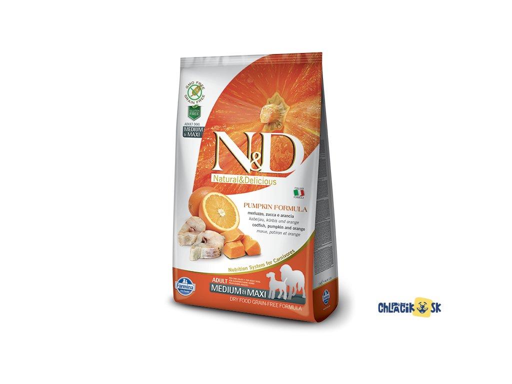 395 44 ND Grain Free Pumpkin@codfish adult medium maxi