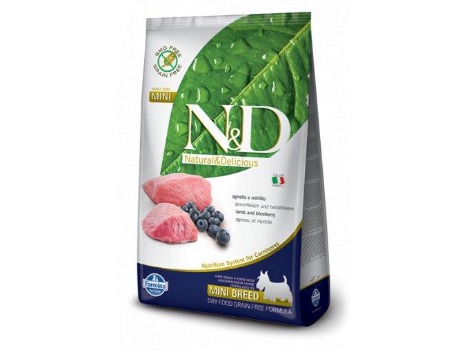 Farmina N&D dog GF adult mini lamb&blueberry 2,5 kg
