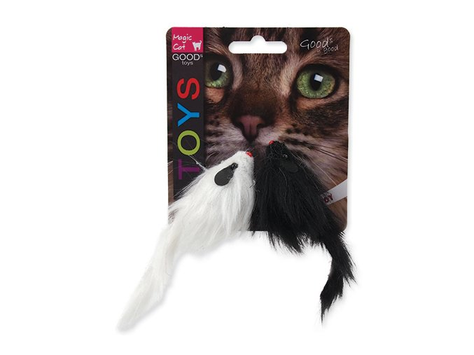 Hračka MAGIC CAT myš plyšová hrkajúca 11 cm (2ks)
