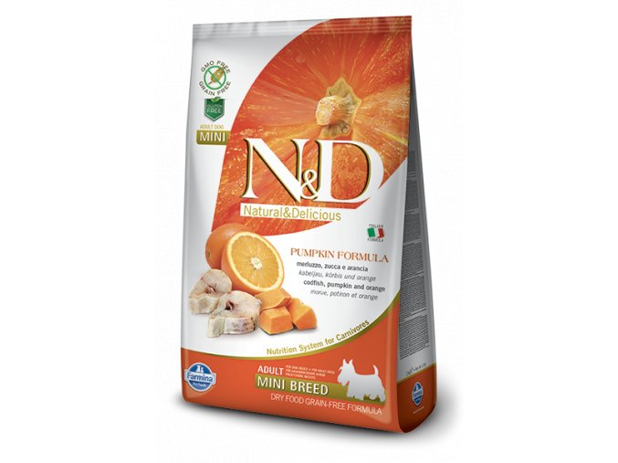 394 07 ND Grain Free Pumpkin@codfish adult mini