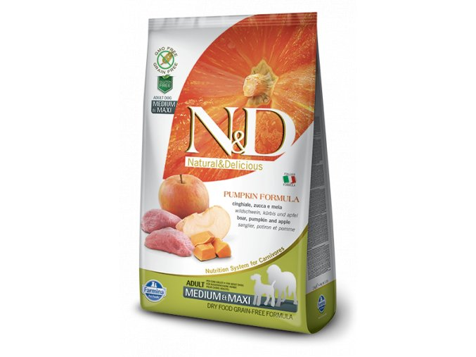397 26 ND Grain Free Pumpkin@boar adult medium maxi