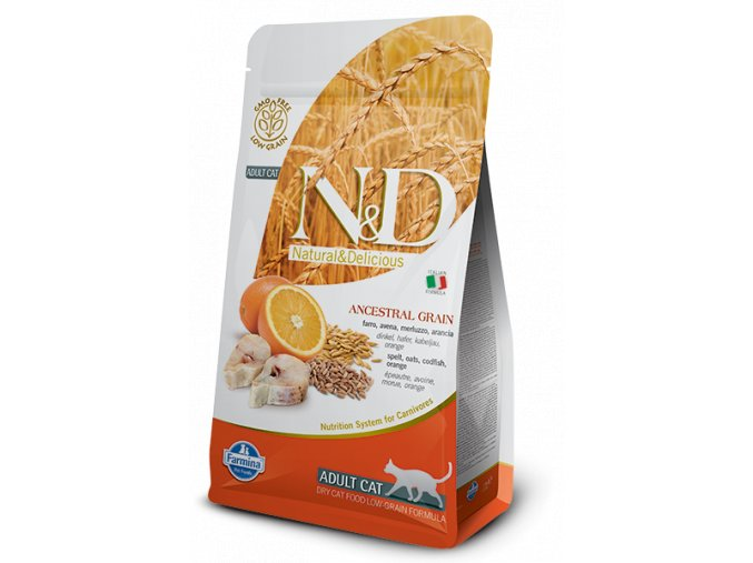 ND Low Ancestral Grain feline Adult CODFISH@web