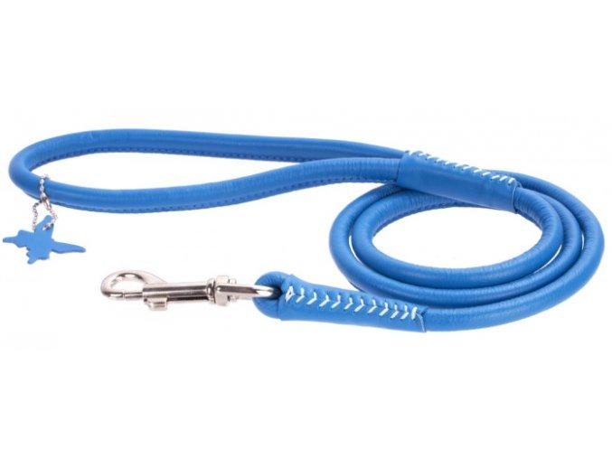 103(1) okruhle kozene voditko modrej farby 122 cm