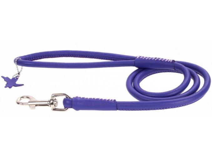123(1) okruhle kozene voditko fialovej farby 183cm