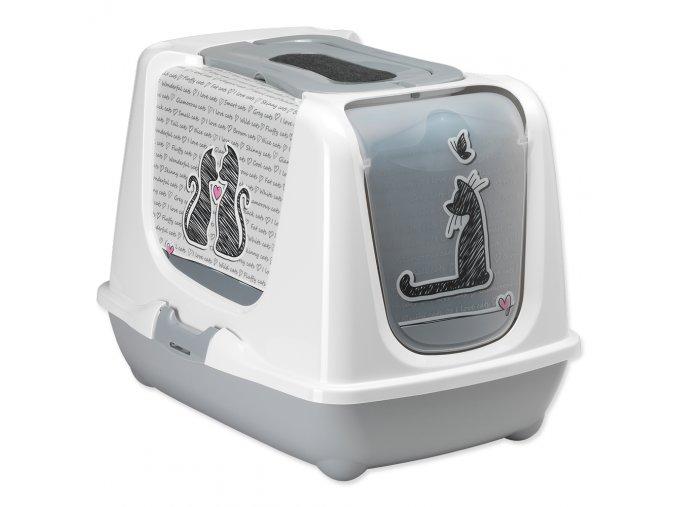 MAGIC CAT toaleta Cats In Love šedá 50 cm