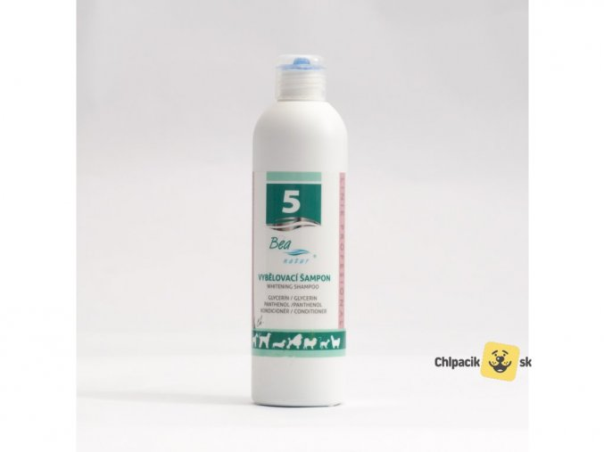 Vybielovací šampón pre psy a mačky č. 5 BEA natur 5000ml+ PUMPA ZDARMA  + chutná kapsička zdarma