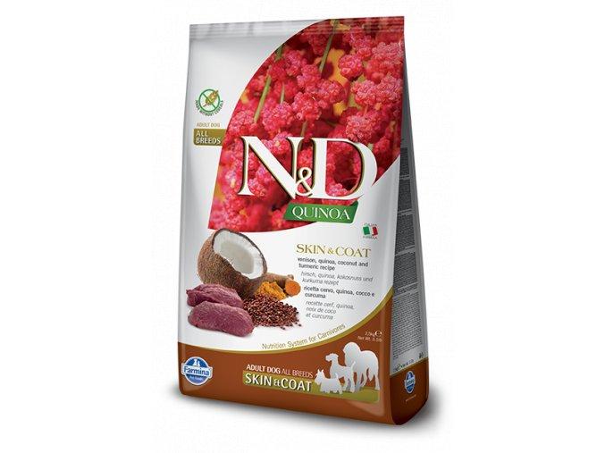 442 07 nd quinoa adult skin coat venison [400x600pxl]@img farmina site