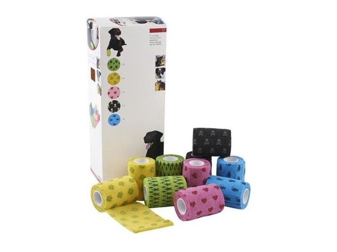 Bandáž KRUUSE Fun Flex Pet 7,5cm x 4,5m 10ks