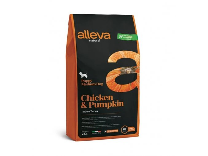 alleva Natural Puppy Medium Dog Chicken Pumpkin
