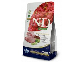 439 10 ND Quinoa feline 1,5kg Adult WEIGHT MANAGEMENT LAMB [3D Front+Right]