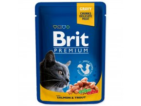BRIT Premium cat Kapsička Adult Salmon & Trout 100 g