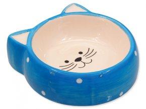 MAGIC CAT Miska pre mačky keramická s uškami 13 cm