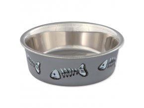 0200884 miska trixie nerezova vzor kostra rybky 12 cm 300ml