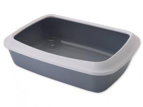 Toaleta SAVIC Isis + okraj šedá 50 cm