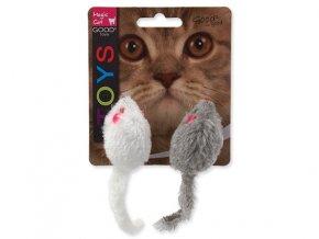 Hračka MAGIC CAT myšky hrkajúce s catnipom 11 cm (2ks)