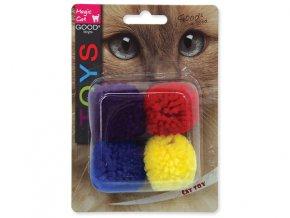 Hračka MAGIC CAT loptička bavlnená s catnipom 3,75 cm (4ks)