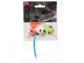 Hračka MAGIC CAT myš dúhová 7,5 cm (3ks)