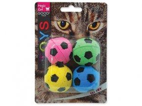 Hračka MAGIC CAT loptičky penové futbalové 3,75 cm 4ks
