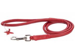 102(1) okruhle kozene voditko cervenej farby 122cm