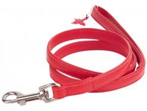 97(1) ploche kozene voditko cervenej farby 122cm