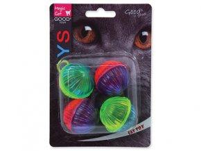 Hračka MAGIC CAT lesklá plastová hrkajúca loptička