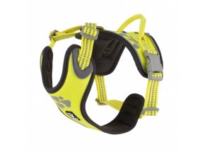 hurtta weekend warrior harness neon lemon