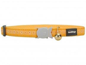 REDDINGO nylonovy obojok pre macku s margarétkami žltý