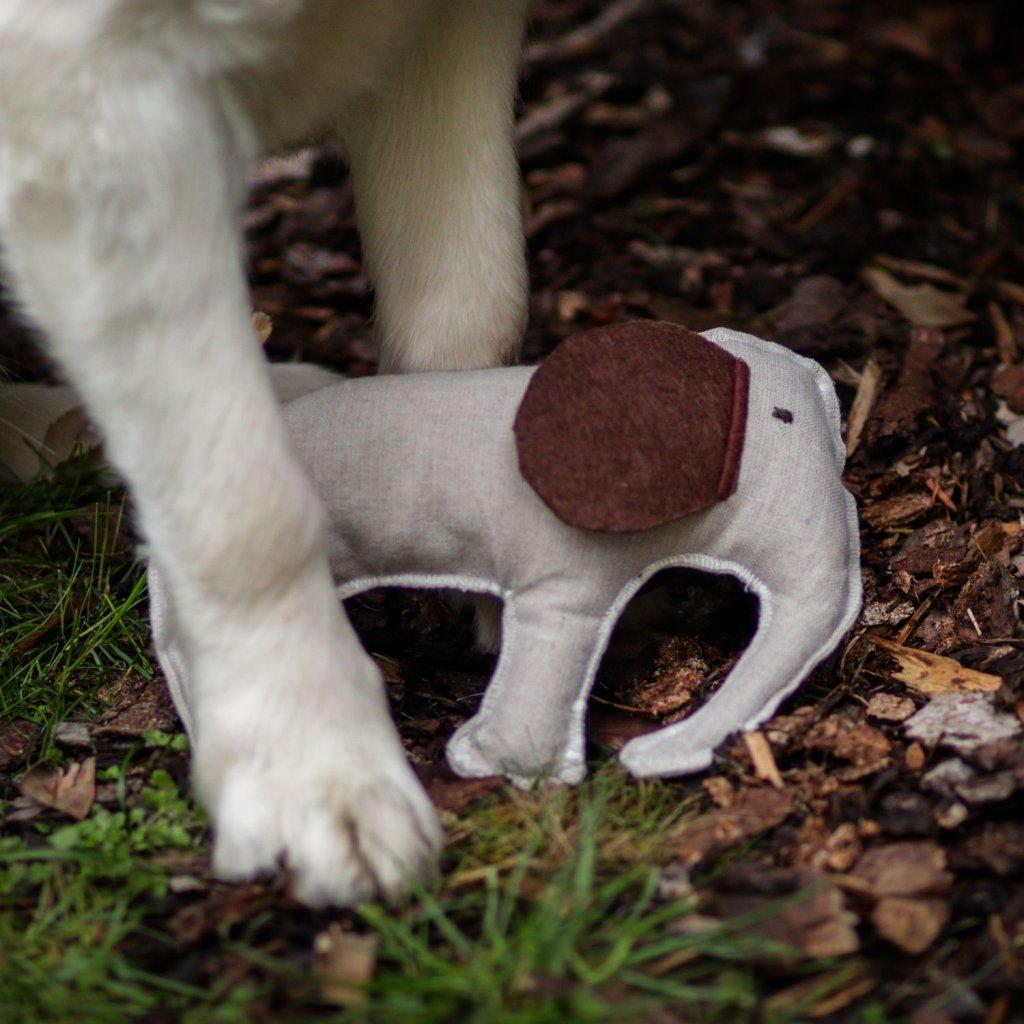 Hracky pro psy prosivany slon (2)