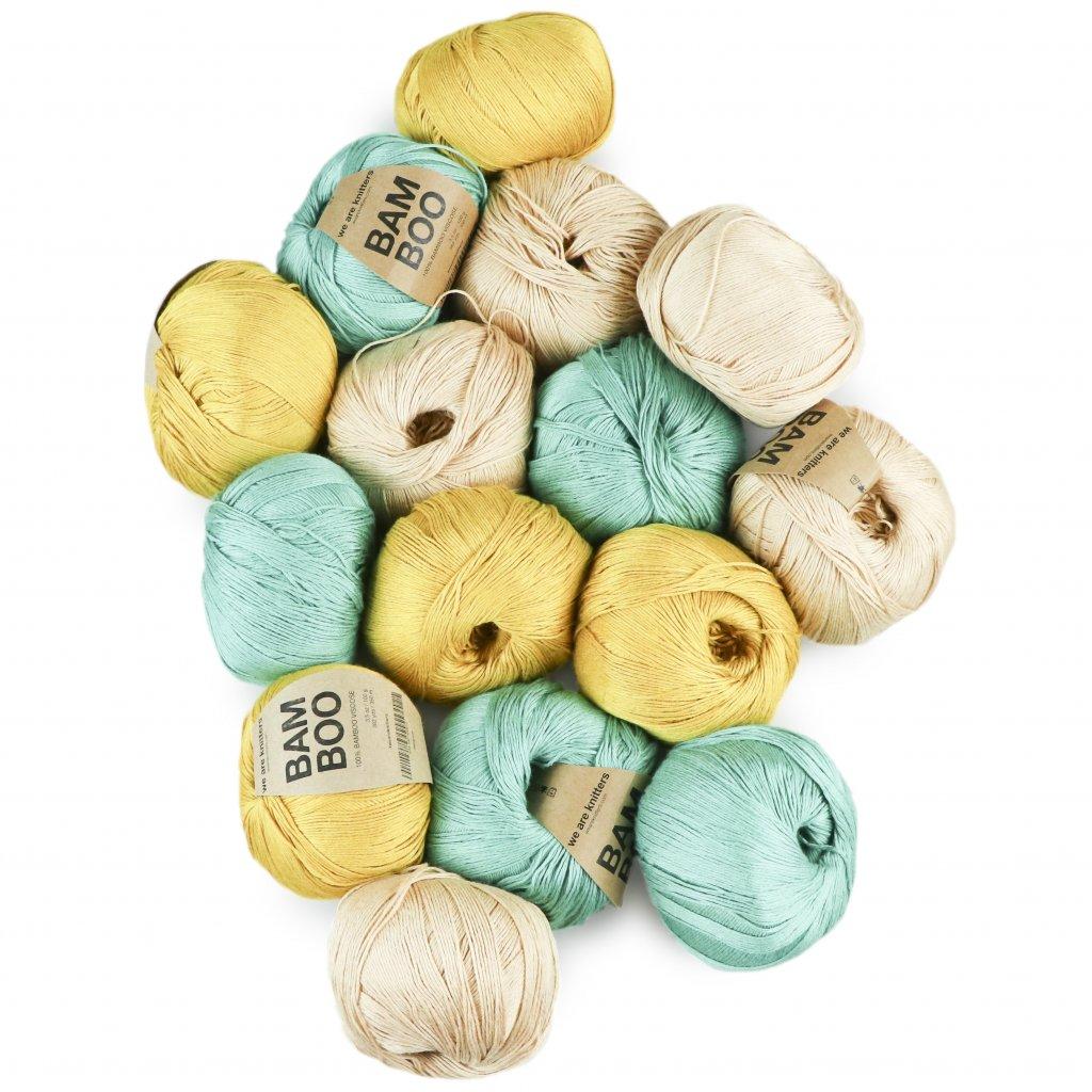 www.chlupatalama.cz-we-are-knitters-bamboo-15 mustard salmon turquoise ctverec
