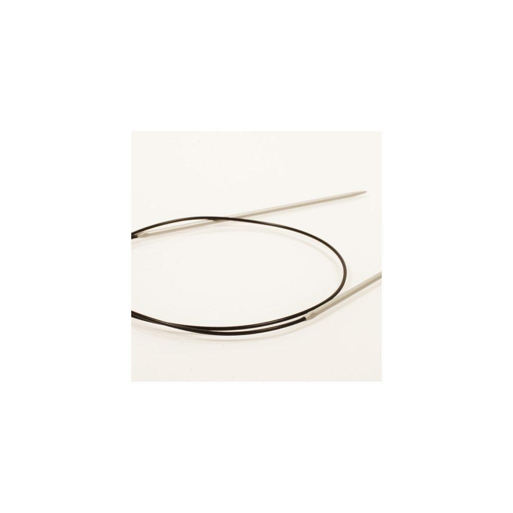 www.chlupatalama.cz-DROPS Basic kruhové jehlice pevné, délka 80 cm, materiál hliník.