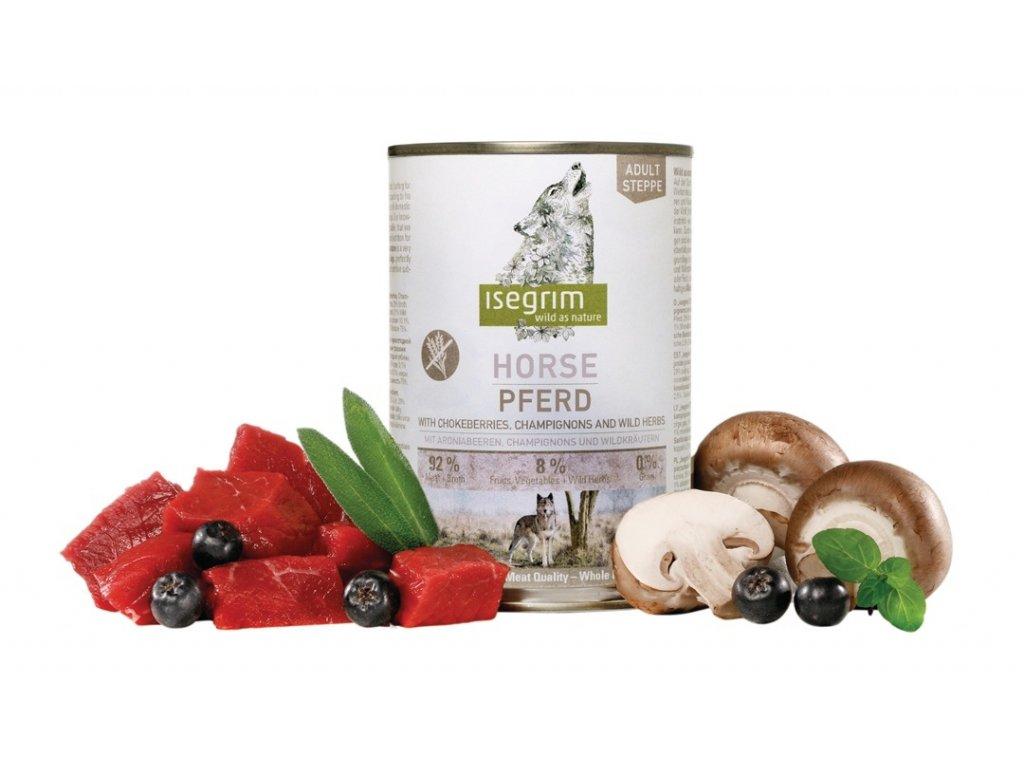 ISEGRIM Adult Steppe: Koňské maso s černým jeřábem a žampiony