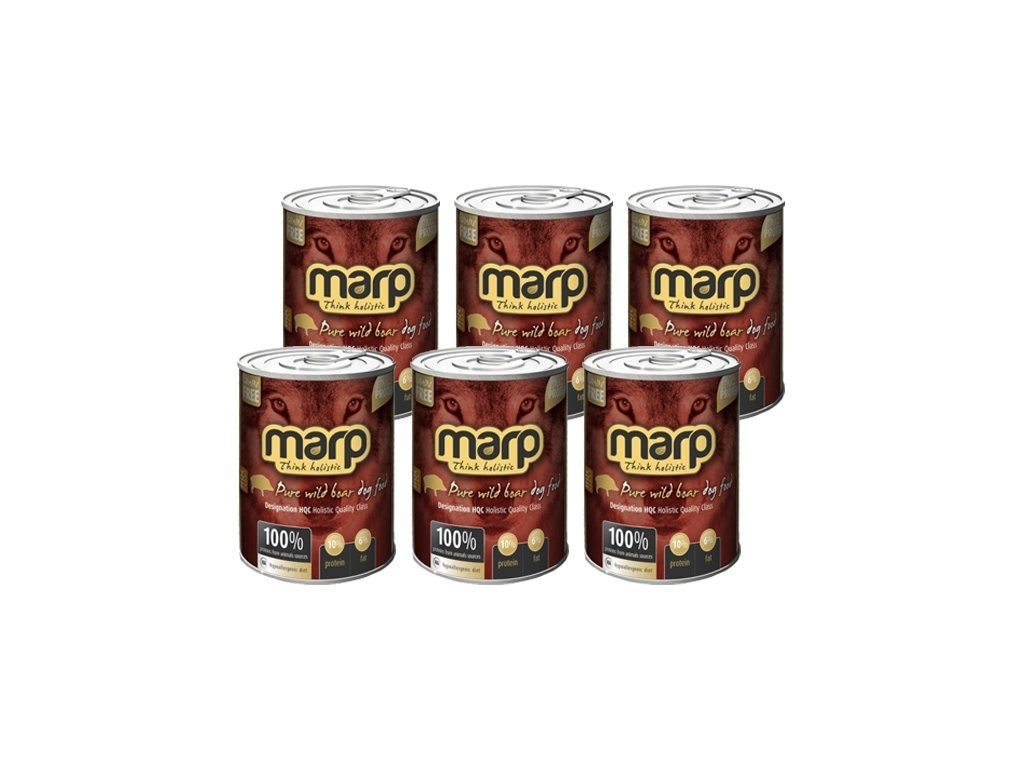 Marp Holistic Dog konzerva Pure Wilde Boar 6x 400 g