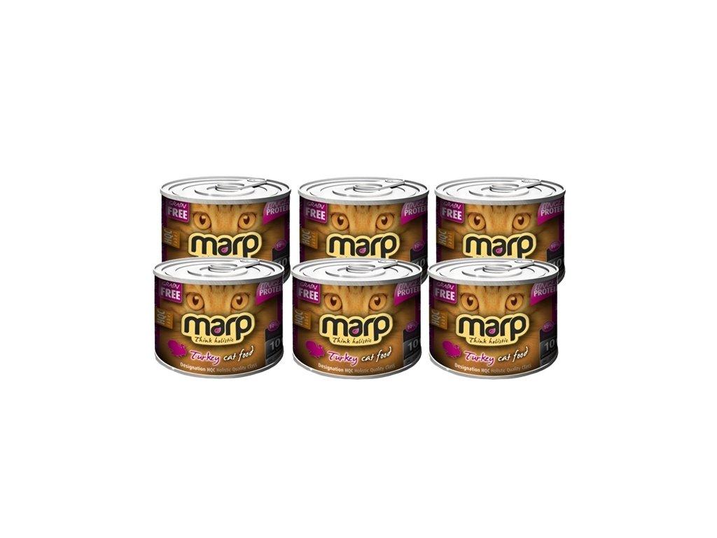 Marp Holistic Cat konzerva Pure Turkey 200 g set