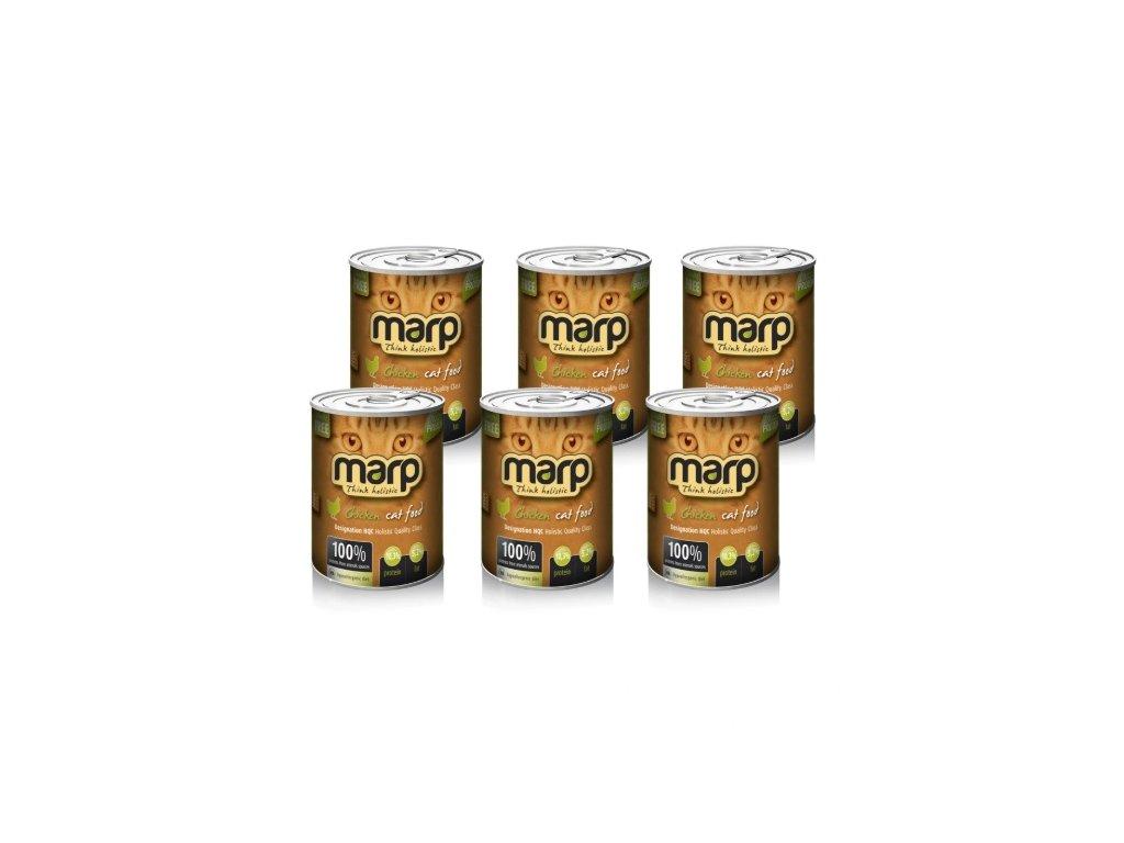 Marp Chicken konzerva pro kočky s kuřecím 6x400g
