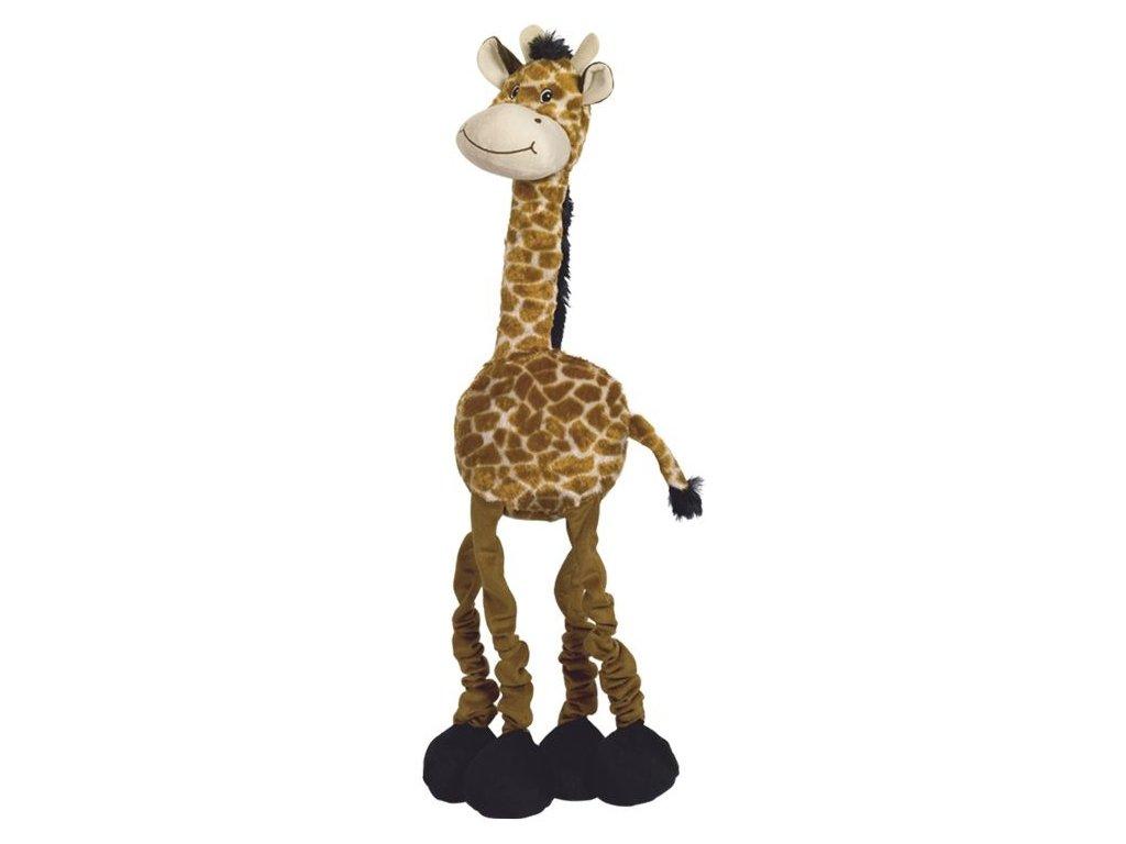 Nobby Long plyšová natahovací hračka pro psa žirafa 72 cm