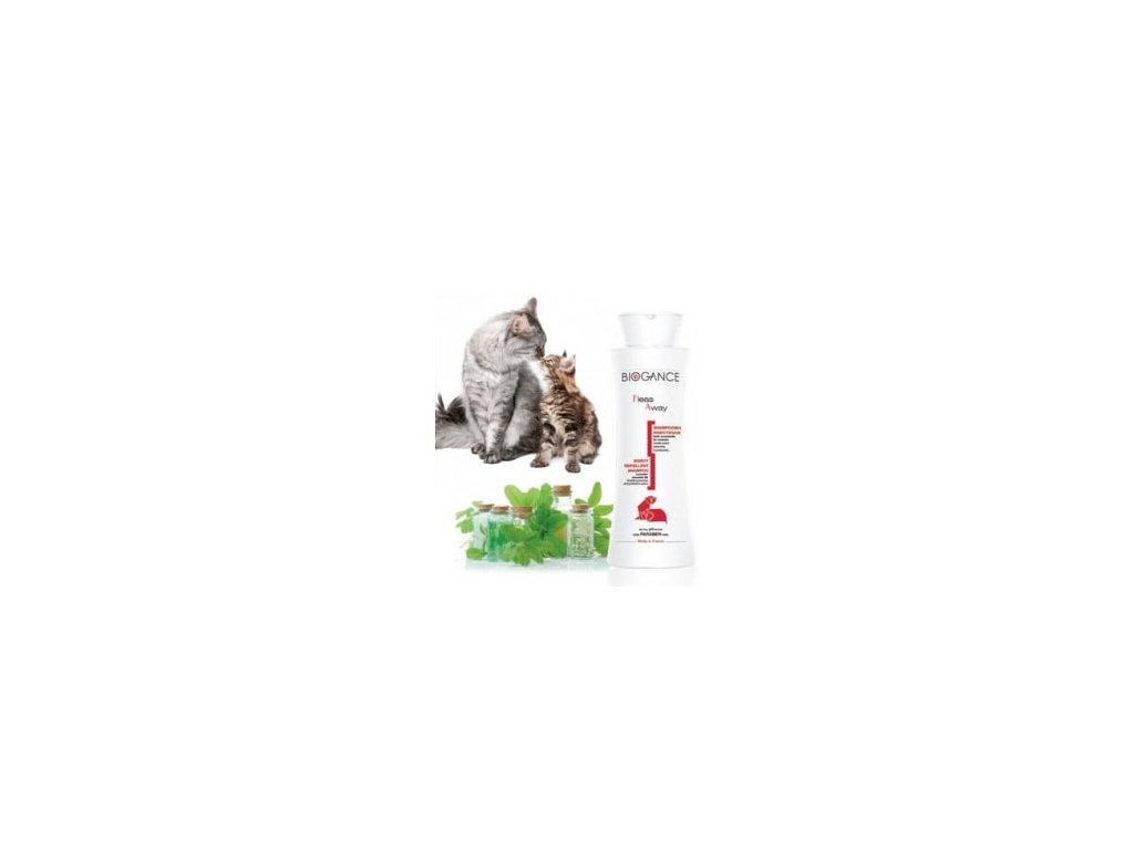 Biogance šampón Fleas away - CAT Antiparaz. 250ml