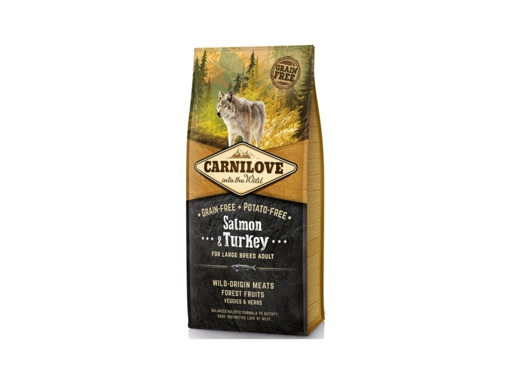 Granule Carnilove Adult Large breed Salmon & Turkey | chlupik.cz