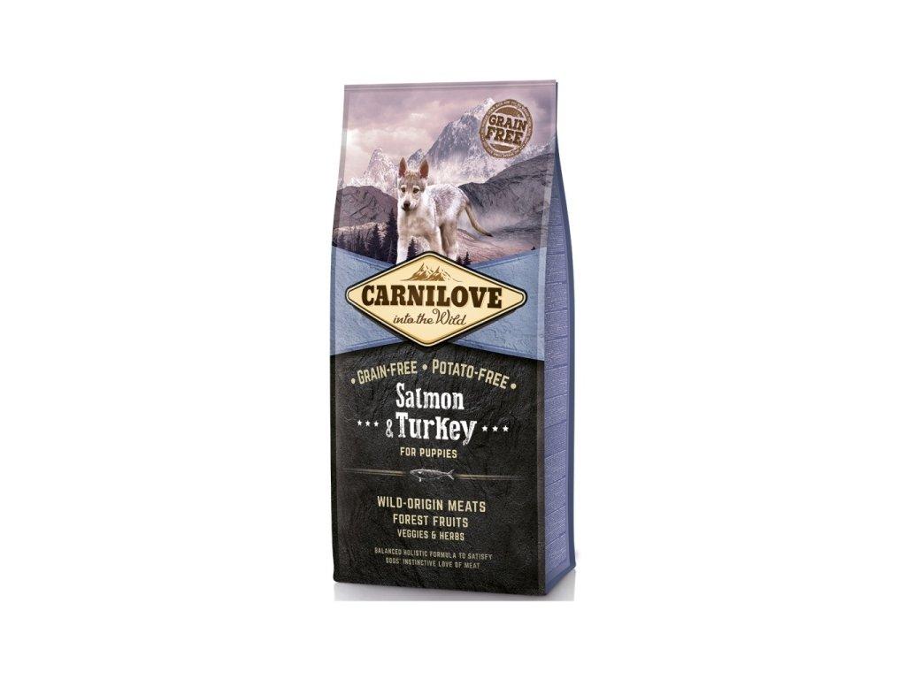 Granule Carnilove Puppy Salmon & Turkey | chlupik.cz
