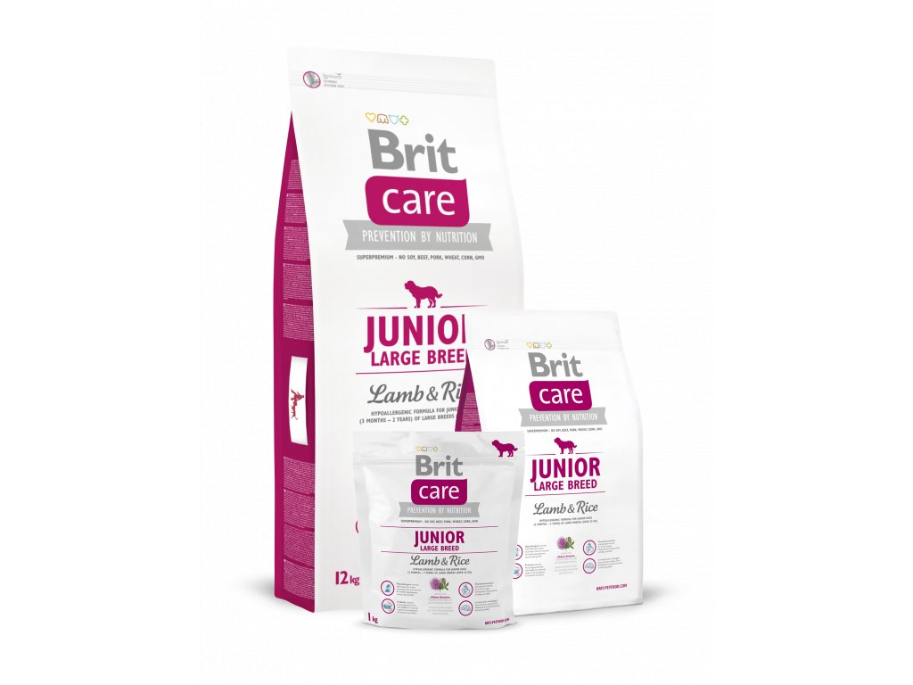 krmivo granule Brit Care Lamb & Rice Junior Large Breed (nad 25 kg v dospělosti)