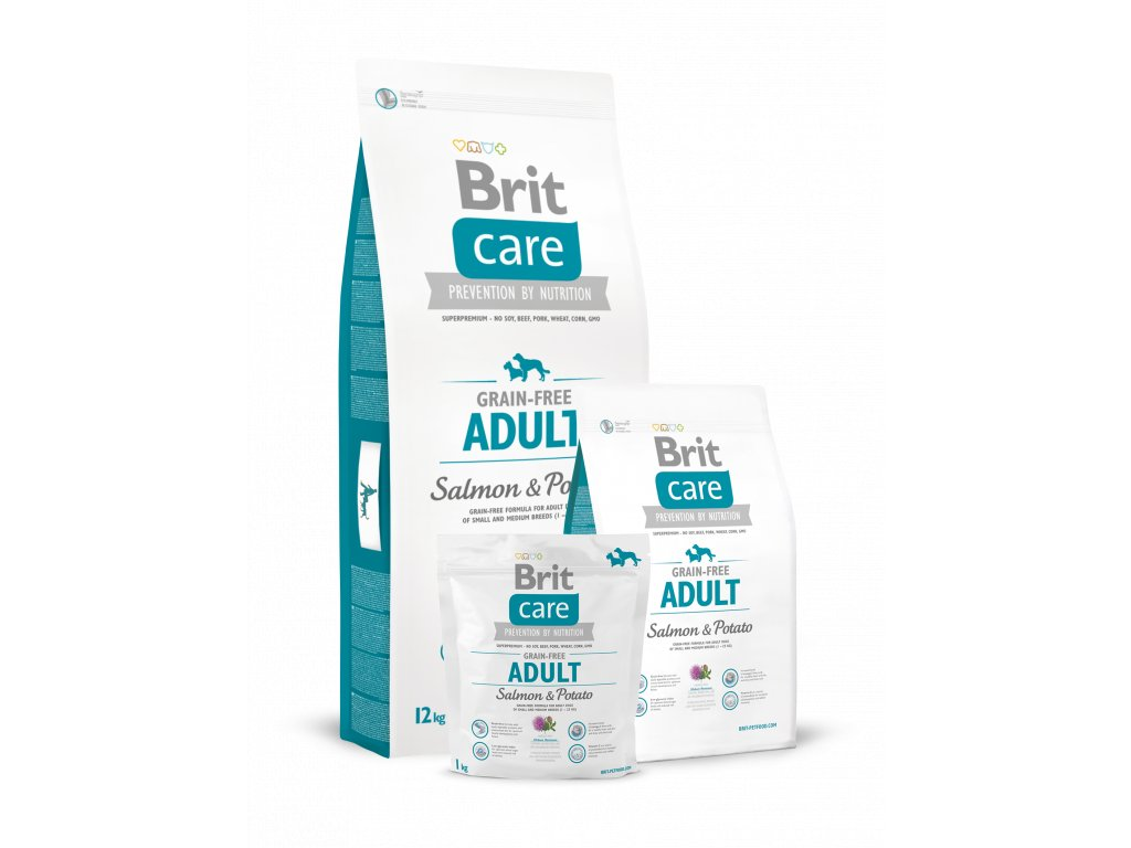 krmivo GRANULE Brit Care Grain free Salmon & Potato Adult small & medium 1 - 25 kg