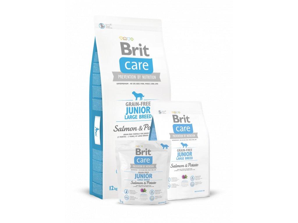 Krmivo Brit Care Salmon & Potato Junior Large breed