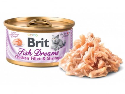 brit cat chicken shrimps
