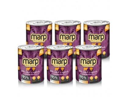 Výhodný set Marp Holistic Dog konzerva MIX Lamb & Vegetable 6x 400 g