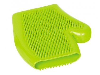 Nobby čistící a masážní rukavice zelená 16x18cm