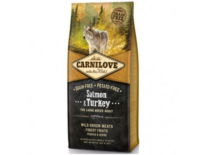 Granule Carnilove Adult Large breed Salmon & Turkey | chlupik.cz