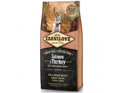 granule Carnilove Puppy large breed | Salmon & Turkey | chlupik.cz