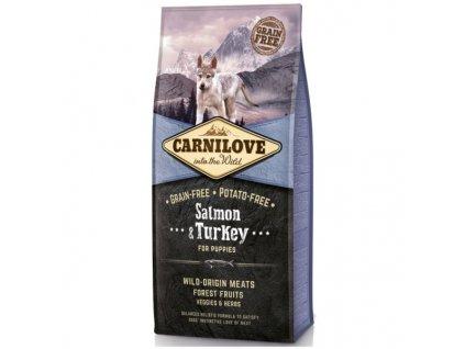 Krmivo Carnilove Puppy Salmon & Turkey - losos a krocan pro štěňata